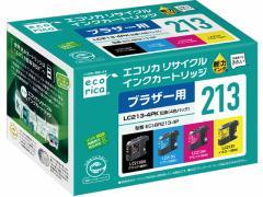 エコリカ/ブラザー用リサイクルインクカートリッジLC213-4PK