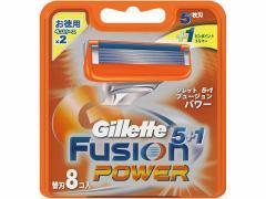 P&G/ジレット フュージョン5+1 パワー替刃8個