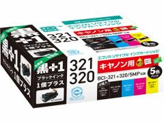 エコリカ/キャノン用リサイクルインクカートリッジBCI-321+320/5MP+黒