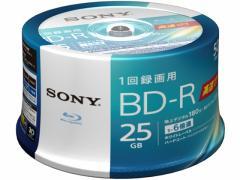 ソニー/1回録画ブルーレイディスク25GB 6倍速50枚/50BNR1VJPP6