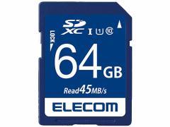 エレコム/データー復旧サービス付 SDXCカード class10 64GB