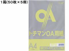SAKAEテクニカルペーパー/極厚口カラーPPC A4 ライトグリーン 50枚*5冊