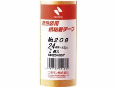 ニチバン/紙粘着テープ 24mm×18m 5巻/208-24
