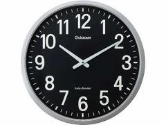 キングジム/電波掛時計 ザラージ黒文字盤/GDK-001K