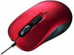 サンワサプライ/有線ブルーLEDマウス レッド/MA-BL114R