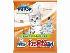 ユニ・チャームペットケア/デオサンド ギュッと固まる紙砂 5L