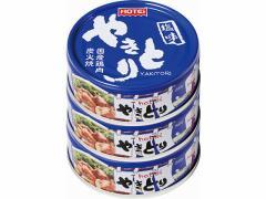 ホテイ/やきとり 塩味 70g×3缶シュリンク