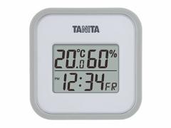 タニタ/デジタル温湿度計 グレー/TT558GY