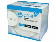HP/CDRA80CHPW20A/音楽用CD-R 20枚スリムケース