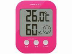 ドリテック/デジタル温湿度計 ピンク/O-230PK