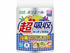 大王製紙/エリエール超吸収キッチンタオル50カット 4ロール