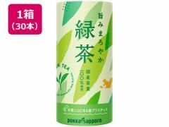 ポッカサッポロ/旨みまろやか緑茶 カートカン 195g×30本
