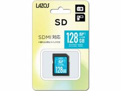 Lazos/SDXCメモリーカード 128GB/L-128SDX10-U3