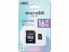 Lazos/microSDHCメモリーカード 16GB/L-16MSD10-U1