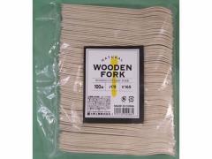 大黒工業/木製フォーク ♯165 バラ 100本/WF-165