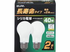 朝日電器/長寿命シリカ電球 40W形 2個パック