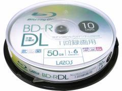 Lazos/BD-R DL 50GB 10枚 大容量記録用/L-BDL10P