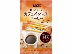 UCC/おいしいカフェインレスコーヒー スティック 7P