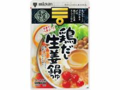 ミツカン/〆まで美味しい 鶏だし生姜鍋つゆストレート 750g