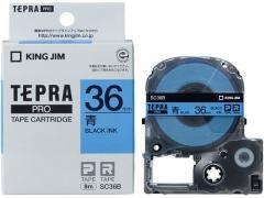キング/PRO用テープ パステル 36mm 青/黒文字/SC36B