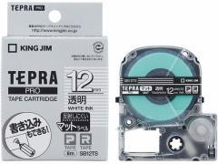 キングジム/PRO用テープマットラベル 12mm 透明 白文字/SB12TS