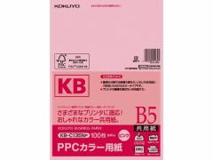 コクヨ/PPCカラー用紙 B5 ピンク 100枚入/KB-C135NP