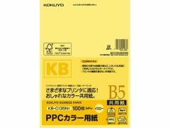 コクヨ/PPCカラー用紙 B5 イエロー 100枚入/KB-C135NY