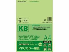 コクヨ/PPCカラー用紙 A4 グリーン 100枚入/KB-C139NG