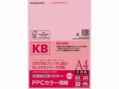 コクヨ/PPCカラー用紙 A4 ピンク 100枚入/KB-C139NP