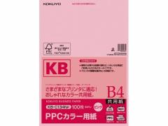 コクヨ/PPCカラー用紙 B4 ピンク 100枚入/KB-C134NP