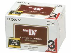 ソニー/デジタルHD録画対応DVCテープ/3DVM63HD