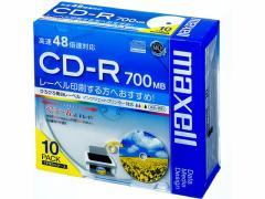 マクセル/データ用CD-R 700MB 10枚/CDR700S.WP.S1P10S