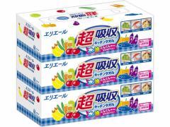 大王製紙/エリエール 超吸収キッチンタオル 漂白 3個