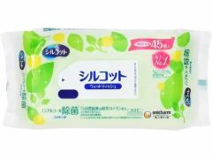 ユニチャーム/シルコット 除菌ウェットティッシュ ノンアルコールタイプ 詰替 45枚