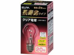 朝日電器/長寿命 クリア電球 20W形/L100V19W-C
