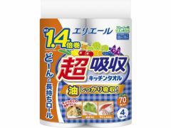 大王製紙/エリエール 超吸収キッチンタオル 70カット 4ロール