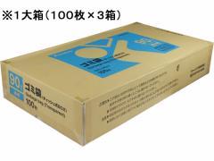 Forestway/ゴミ袋(ティッシュBOXタイプ)透明 90L 100枚×3箱
