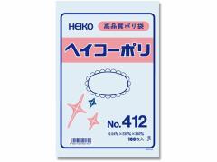 ヘイコー/ポリ袋 No.412 0.04×230×340mm 100枚
