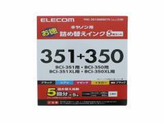 エレコム/キヤノン対応詰替インク(5回分)5色セット/THC-351350SET5