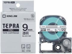 キング/テプラPRO用テープ 9mm 透明/黒文字 5個/ST9K