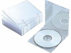 エレコム/Blu-ray DVD CDスリムケース クリア 10枚/CCD-JSCS10CR