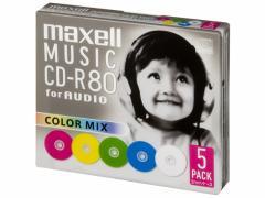 マクセル/音楽用CD-R 700MB カラーミックス 5枚