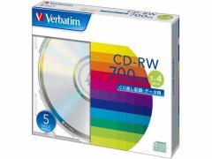 三菱ケミカルメディア/データ用CD-RW 700MB 1〜4倍速 5枚