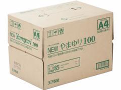 王子製紙/リサイクルコピー用紙Newやまゆり100 A4 500枚×5冊