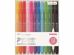 トンボ鉛筆/PLAY COLOR2 12色セット/GCB-011