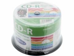 ハイディスク/CD-R 700MB 52倍速 50枚 スピンドル入