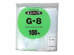 セイニチ/ユニパック厚口 G-8 140*200*0.08mm 100枚/#6651517