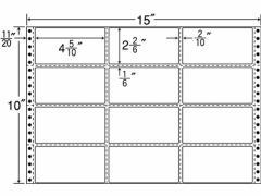 NANA/連続ラベルナナフォーム 15×10インチ 12面 500折/M15C