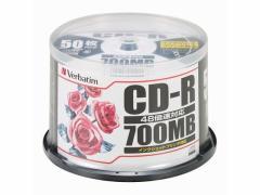 三菱ケミカルメディア/CD-R 700MB 50枚スピンドル/SR80PP50