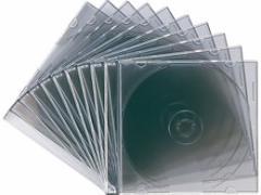 サンワサプライ/DVD・CDプラケース スリムタイプ クリアブラック 10枚入